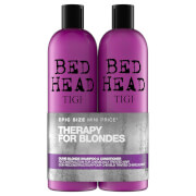 TIGI Bed Head Dumb Blonde Repair Shampoo and Reconstructor for Coloured Hair 2 x 750ml