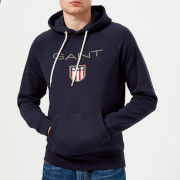 GANT Men's Shield Logo Hoody - Evening Blue