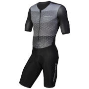 Nalini Ancares Short Sleeve Body Suit - Black/Grey