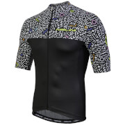 Nalini Centenario Short Sleeve Jersey - Black/Zig Zag