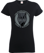 T-Shirt Femme Black Panther Made in Wakanda - Noir