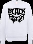 Black Panther Emblem Sweatshirt - White