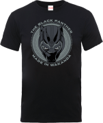 Black Panther Made in Wakanda T-shirt - Zwart