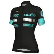 Alé Women's Strada Jersey - Black/Turquoise
