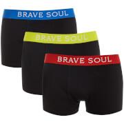 Pack de 3 bóxers Brave Soul Jay - Hombre - Negro