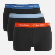 Calvin Klein Men's 3 Pack Trunk Boxer Shorts - Black/Oriole Black/Lakefront Black