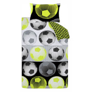 Catherine Lansfield Neon Football Duvet Set - Yellow
