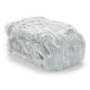 Catherine Lansfield Metallic Fur Throw - Silver - 130 x 170cm