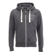 Crosshatch Men's Laramie Zip Through Hoody - Charcoal Marl