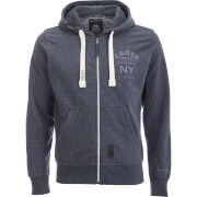 Crosshatch Men's Laramie Zip Through Hoody - Navy Marl