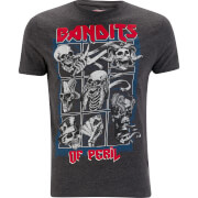 Brave Soul Men's Bandit T-Shirt - Dark Charcoal