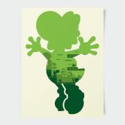 Nintendo Super Mario Yoshi Silhouette Print