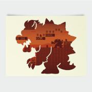 Nintendo Super Mario Bowser Silhouette Poster