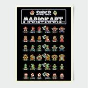 Nintendo Mario Kart Retro Racer Poster