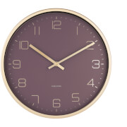 Karlsson Gold Elegance Wall Clock - Purple