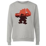 Nintendo Donkey Kong Silhouette Serengeti Women's Sweatshirt - Grey