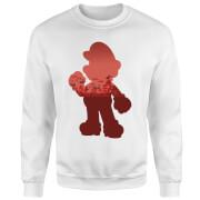 Sweat Homme Super Mario Mario Silhouette - Nintendo - Blanc