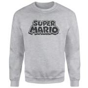 Sudadera Nintendo Super Mario Logo - Hombre - Gris