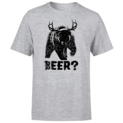 Beershield Beer Bear Deer T-Shirt - Grey