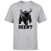 Beer Bear Deer T-Shirt - Grey