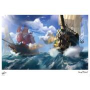 Affiche Sea Of Thieves - À l'Abordage à Midi - Édition Limitée (42 cm x 30 cm)