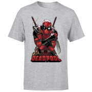 Marvel Deadpool Ready For Action T-Shirt - Grey
