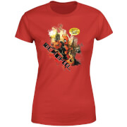 T-Shirt Femme Deadpool (Marvel) Outta The Way Nerd - Rouge