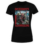 T-Shirt Femme Deadpool (Marvel) Here Lies Deadpool - Noir