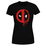Marvel Deadpool Split Splat Logo Women's T-Shirt - Black