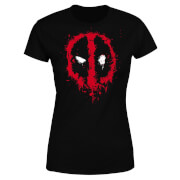 Marvel Deadpool Splat Face Women's T-Shirt - Black