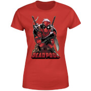 Marvel Deadpool Ready For Action Women's T-Shirt - Red