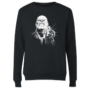 Marvel Avengers Infinity War Fierce Thanos Women's Sweatshirt - Black