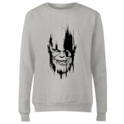 Marvel Avengers Infinity War Thanos Face Women's Sweatshirt - Grey