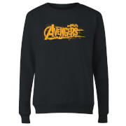 Marvel Avengers Infinity War Orange Logo Women's Sweatshirt - Black