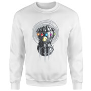 Marvel Avengers Infinity War Thanos Infinite Power Fist Sweatshirt - White