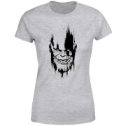 Camiseta Marvel Vengadores: Infinity War Thanos Face - Mujer - Gris