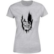 Marvel Avengers Infinity War Thanos Face Dames T-shirt - Grijs