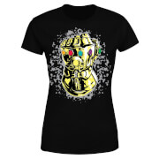 Marvel Avengers Infinity War Fist Comic Damen T-Shirt - Schwarz