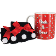 Disney Minnie Mouse Mug and Socks Set