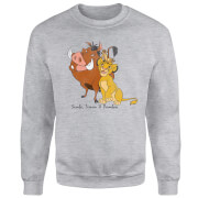 Disney Lion King Simba Pumbaa Timon Classic Sweatshirt - Grey
