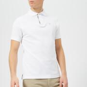 Barbour Men's Tartan Pique Polo Shirt - White