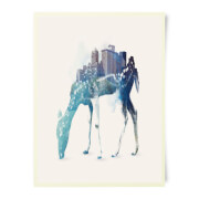 Robert Farkas City Deer Art Print