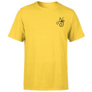 Camiseta Native Shore Essential Script - Hombre - Amarillo