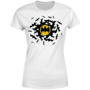 Camiseta DC Comics Batman Bat Swirl - Mujer - Blanco