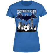 DC Comics Batman Fußball Gotham City Frauen T-Shirt - Blau