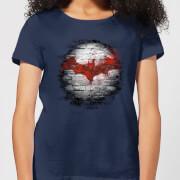 DC Comics Batman Logo Wall Women's T-Shirt - Navy
