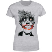 DC Comics Batman Joker Face Of Bats Dames T-shirt - Grijs