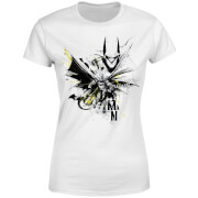 DC Comics Batman Batface Splash Dames T-shirt - Wit