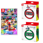 Mario Kart 8 Deluxe Game + Mario & Luigi Joy-Con Wheel