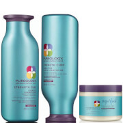 Pureology Strength Cure Colour Care Shampoo, Conditioner and Superfood Treatment Trio